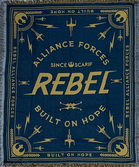 Heroes & Villains Rebel Throw Blanket