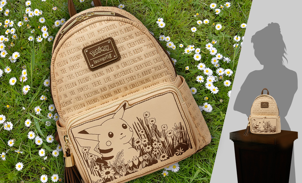 Gallery Feature Image of Sepia Pikachu Mini Backpack Apparel - Click to open image gallery