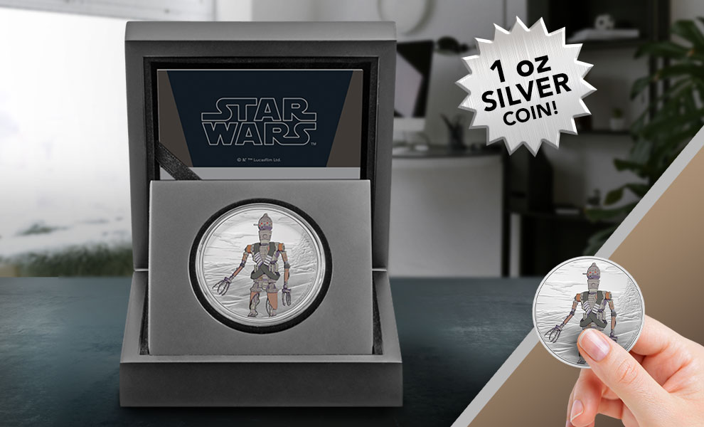Gallery Feature Image of IG-11 1oz Silver Coin Silver Collectible - Click to open image gallery