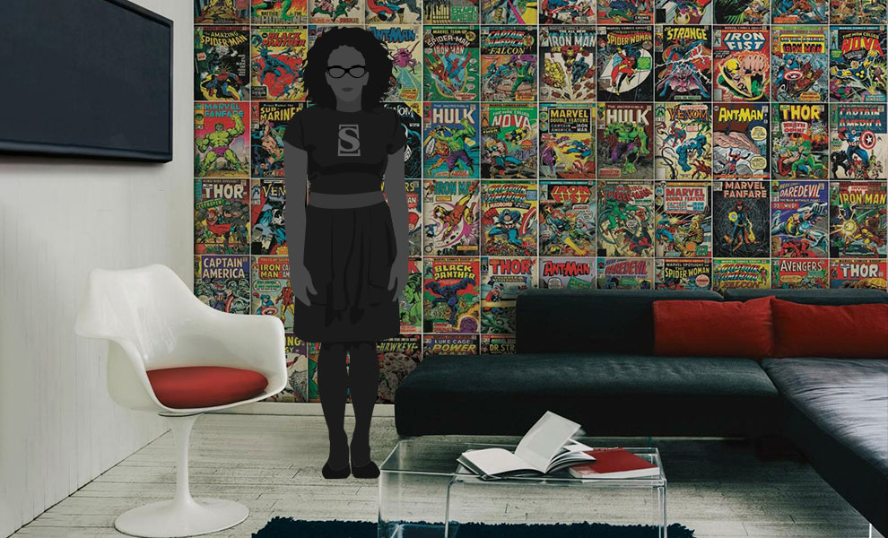 Gallery Feature Image of Marvel Comic Cover Wallpaper Mural Mural - Click to open image gallery