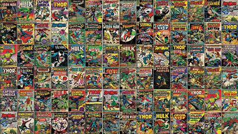 RoomMates Marvel Comic Cover Wallpaper Mural Mural