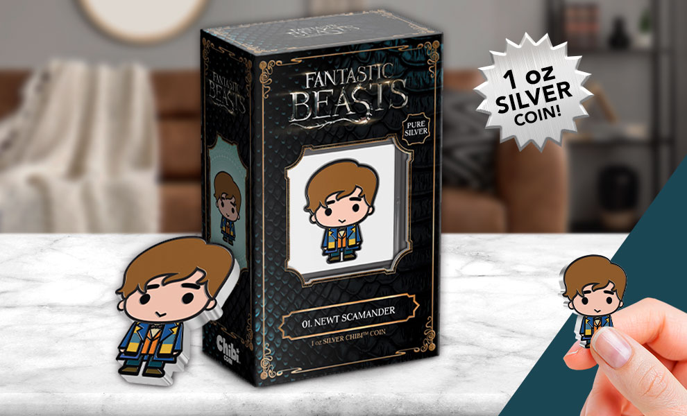 Gallery Feature Image of Newt Scamander 1oz Silver Coin Silver Collectible - Click to open image gallery