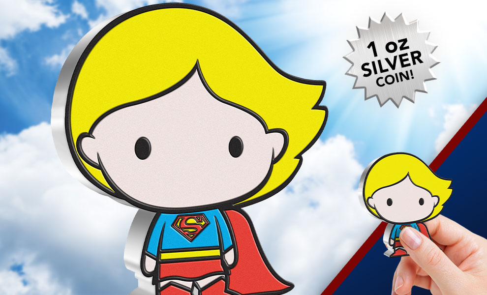 Gallery Feature Image of Supergirl 1oz Silver Coin Silver Collectible - Click to open image gallery