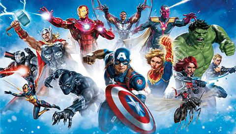 RoomMates Avengers Gallery Art Wallpaper Mural Mural