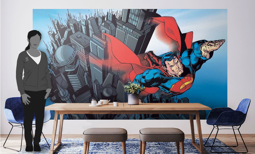 Gallery Feature Image of Superman XL Wallpaper Mural Mural - Click to open image gallery