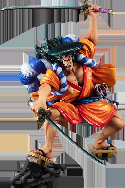 "MegaHouse Portrait of Pirates ""Warriors Alliance"" Oden Kozuki Collectible Figure"