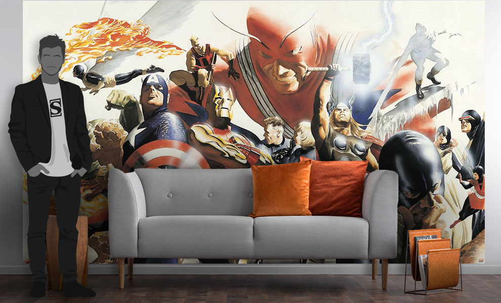 Gallery Feature Image of Marvel Alex Ross Wallpaper Mural Mural - Click to open image gallery