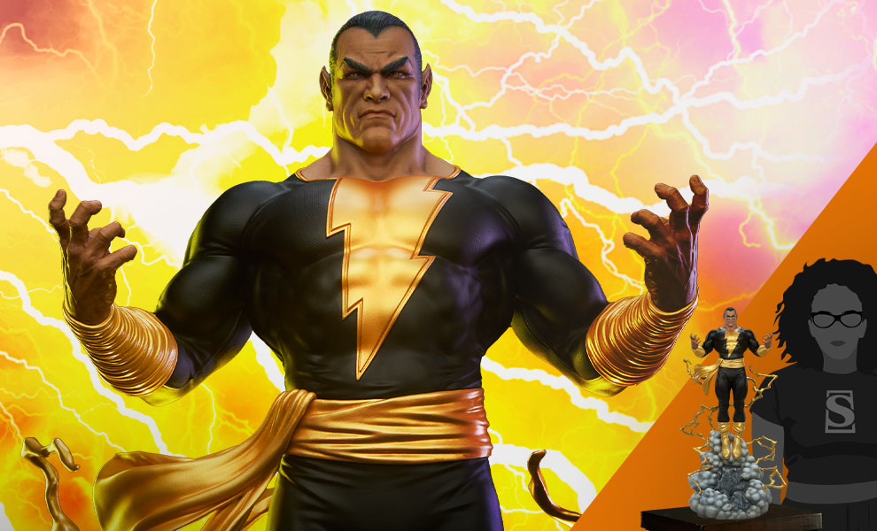 Gallery Feature Image of Black Adam Maquette - Click to open image gallery