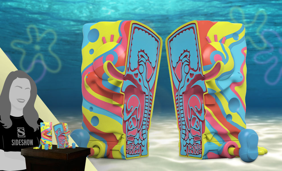 Gallery Feature Image of XXPOSED SpongeBob SquarePants (Rainbow Swirl Edition) Polystone Statue - Click to open image gallery