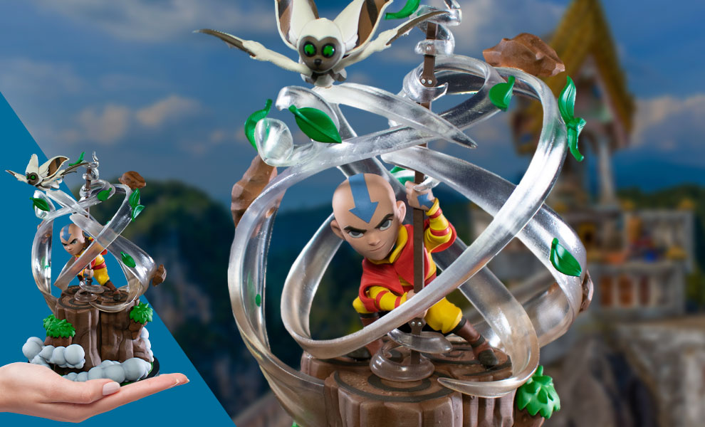 Gallery Feature Image of Aang Q-Fig Max Elite Collectible Figure - Click to open image gallery