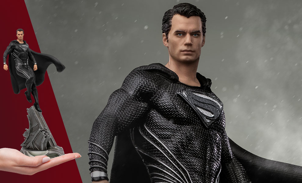 Gallery Feature Image of Superman Black Suit 1:10 Scale Statue - Click to open image gallery