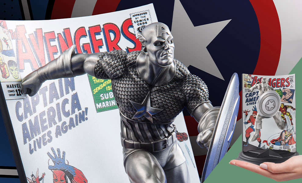 Gallery Feature Image of Captain America The Avengers #4 Pewter Collectible - Click to open image gallery