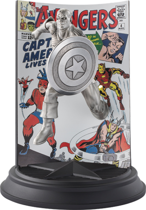 Captain America The Avengers #4 Pewter Collectible