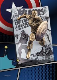 Gallery Image of Captain America The Avengers #4 (Gilt) Pewter Collectible