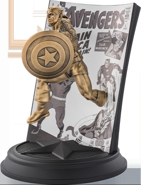 Royal Selangor Captain America The Avengers #4 (Gilt) Pewter Collectible