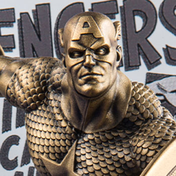 Captain America The Avengers #4 (Gilt) Pewter Collectible