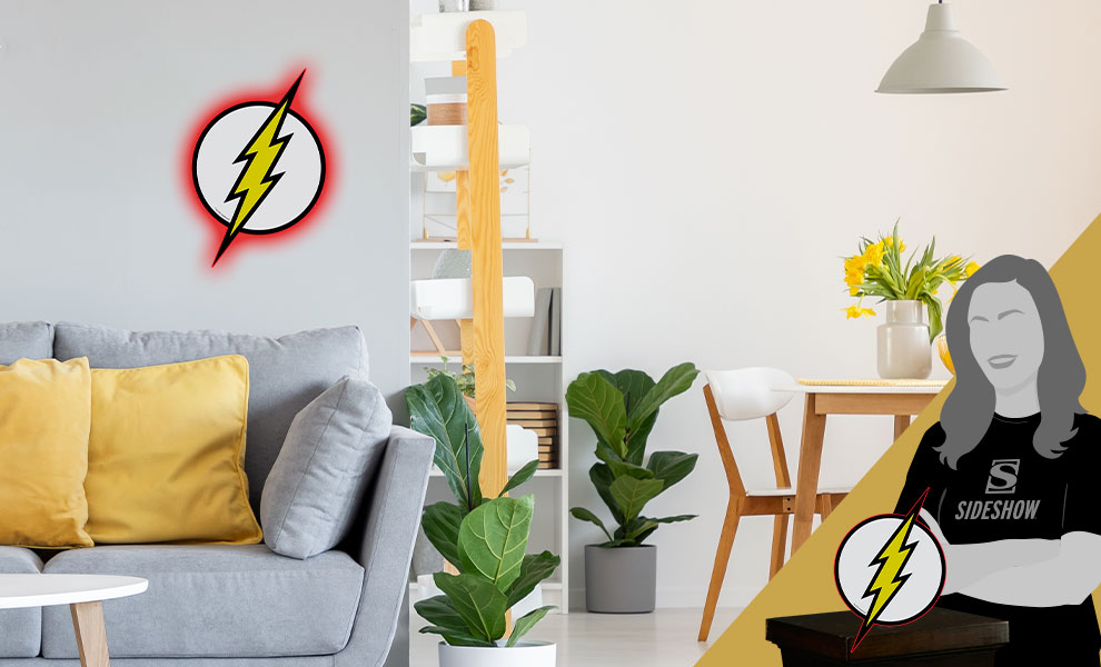 Gallery Feature Image of The Flash LED Logo Light (Regular) Wall Light - Click to open image gallery