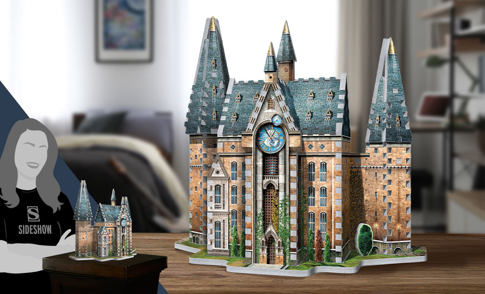 Gallery Feature Image of Hogwarts Clock Tower 3D Puzzle Puzzle - Click to open image gallery