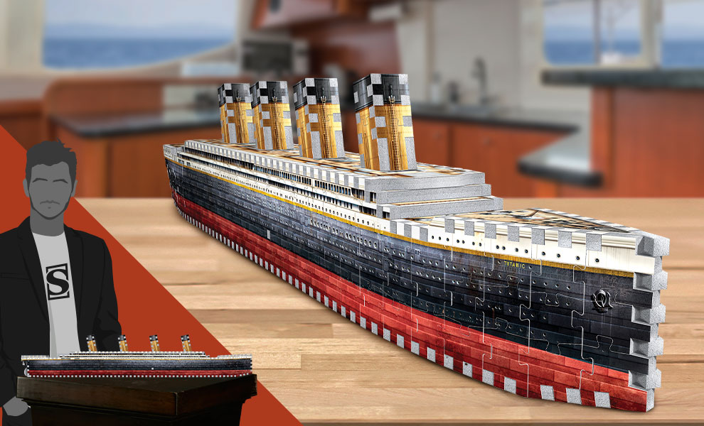 Gallery Feature Image of Titanic 3D Puzzle Puzzle - Click to open image gallery