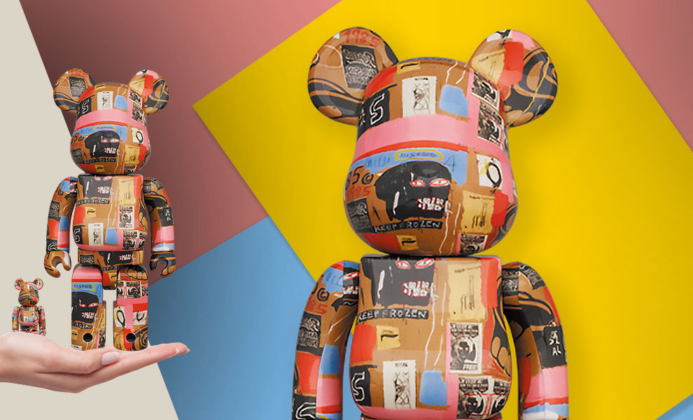 Gallery Feature Image of Be@rbrick Andy Warhol x Jean-Michel Basquiat #2 100% and 400% Bearbrick - Click to open image gallery