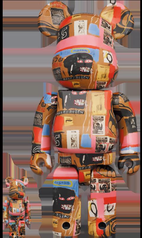 Medicom Toy Be@rbrick Andy Warhol x Jean-Michel Basquiat #2 100% and 400% Bearbrick