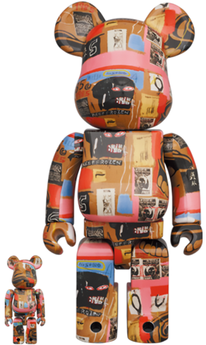Be@rbrick Andy Warhol x Jean-Michel Basquiat #2 100% and 400% Bearbrick