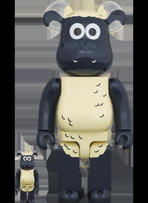 Medicom Toy Be@rbrick Shaun the Sheep 100% & 400% Bearbrick
