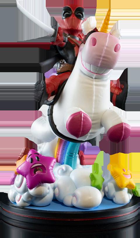 Quantum Mechanix Deadpool x Unicorn Max Elite Q-Fig Collectible Figure