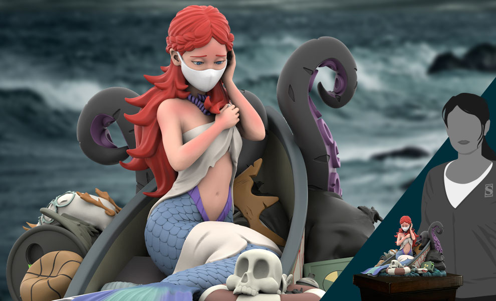 Gallery Feature Image of Mermaid's Ruin Polystone Statue - Click to open image gallery