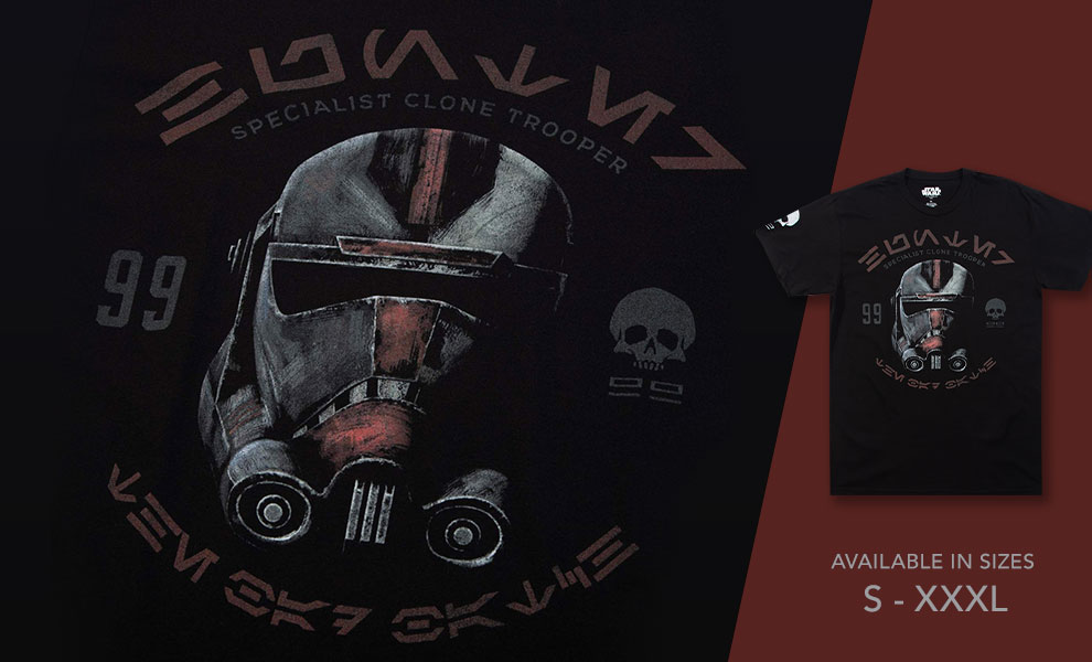 Gallery Feature Image of Bad Batch Hunter Black Tee Apparel - Click to open image gallery