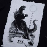 Gallery Image of Godzilla Black Long Sleeve Apparel