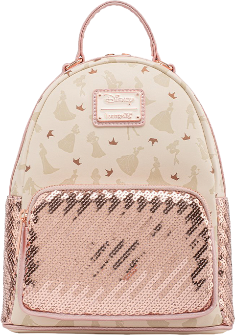 Loungefly Disney Ultimate Princess Sequin Mini Backpack Apparel