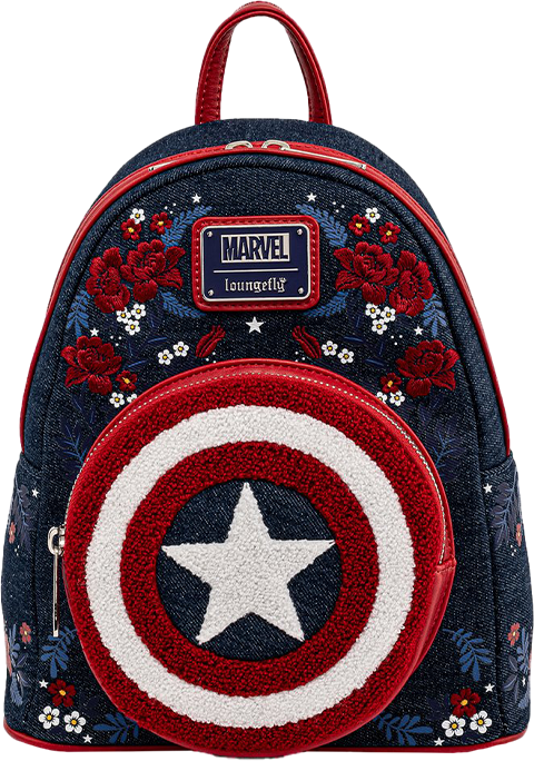 Loungefly Captain America 80th Anniversary Mini Backpack Apparel