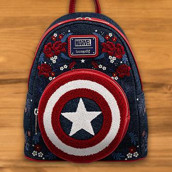 Captain America 80th Anniversary Mini Backpack Apparel