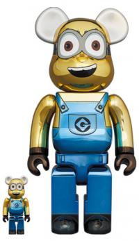 Gallery Image of Be@rbrick Dave (Chrome Version) 100% and 400% Bearbrick