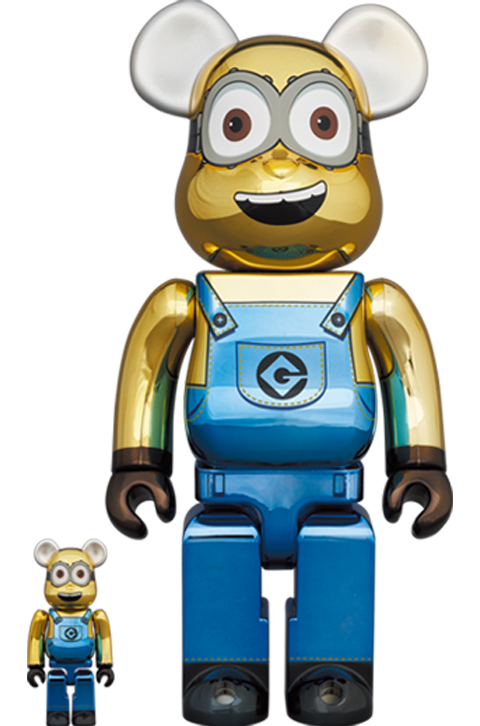 Medicom Toy Be@rbrick Dave (Chrome Version) 100% and 400% Bearbrick