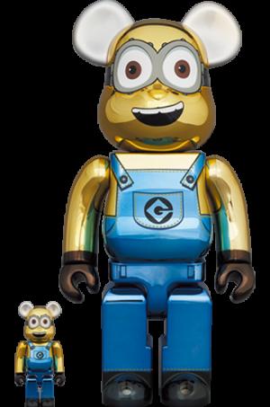 Be@rbrick Dave (Chrome Version) 100% and 400% Bearbrick
