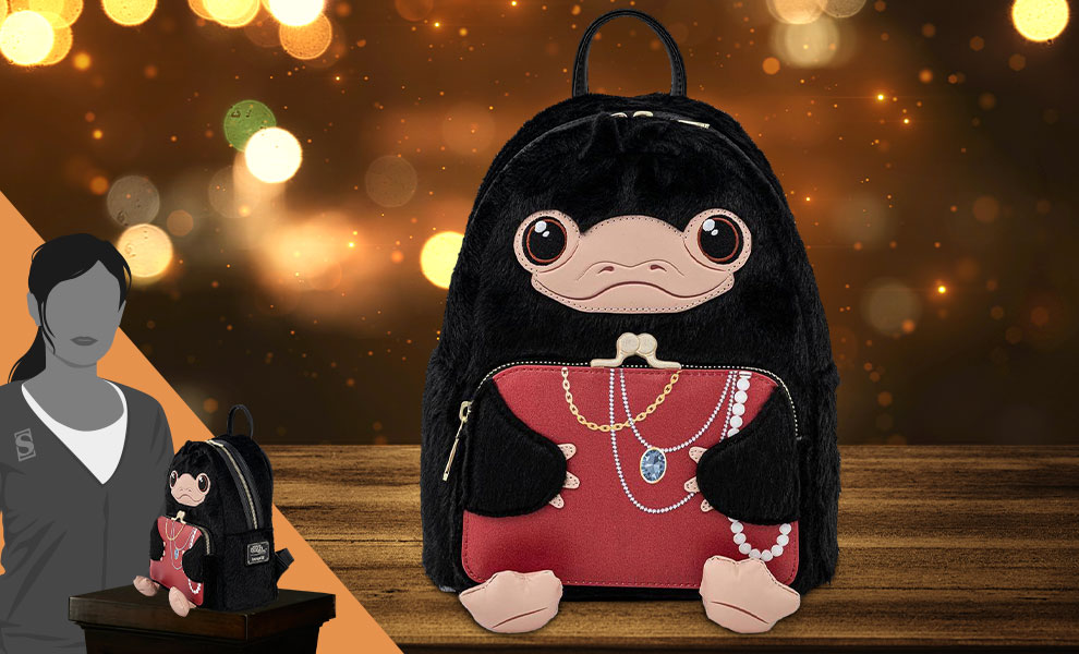 Gallery Feature Image of Niffler Plush Cosplay Mini Backpack Apparel - Click to open image gallery