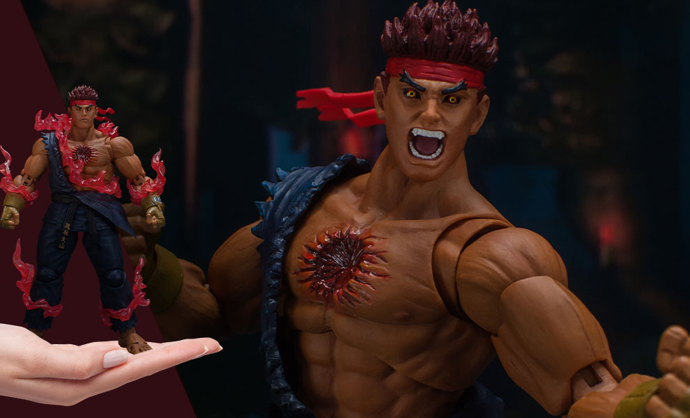 Gallery Feature Image of Evil Ryu Action Figure - Click to open image gallery