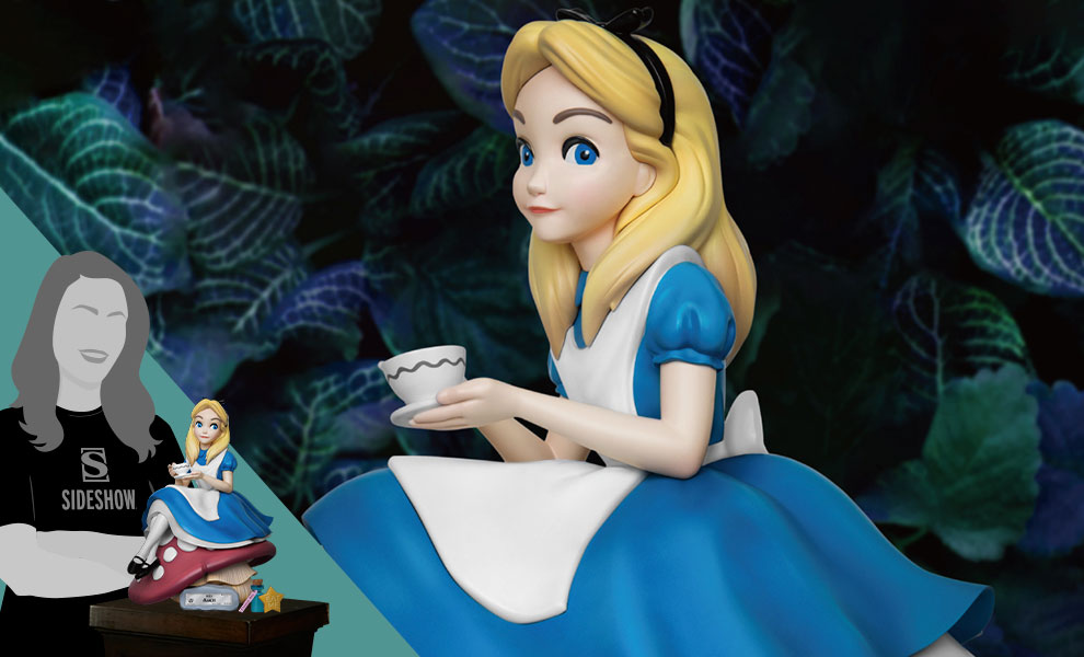 Gallery Feature Image of Alice in Wonderland Polystone Statue - Click to open image gallery