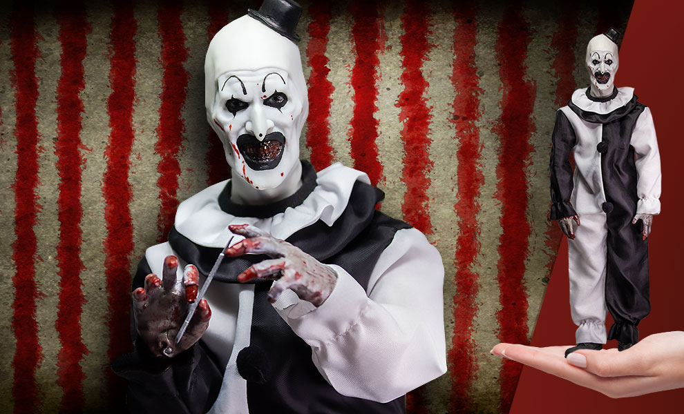 Gallery Feature Image of Art the Clown Sixth Scale Figure - Click to open image gallery