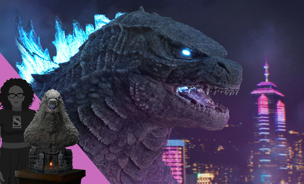 Gallery Feature Image of Godzilla Bust - Click to open image gallery