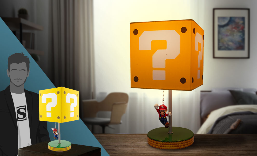 Gallery Feature Image of Super Mario Question Block Lamp Collectible Lamp - Click to open image gallery