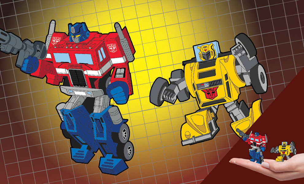 Gallery Feature Image of Optimus Prime x Bumblebee Retro Pin Set Collectible Pin - Click to open image gallery