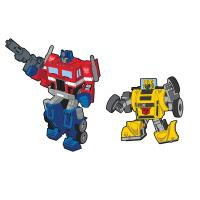 Gallery Image of Optimus Prime x Bumblebee Retro Pin Set Collectible Pin
