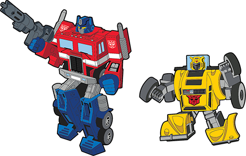 Icon Heroes Optimus Prime x Bumblebee Retro Pin Set Collectible Pin