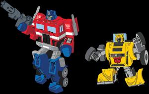 Optimus Prime x Bumblebee Retro Pin Set Collectible Pin