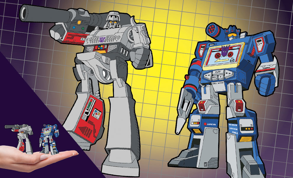 Gallery Feature Image of Megatron x Soundwave Retro Pin Set Collectible Pin - Click to open image gallery