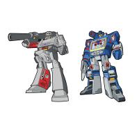 Gallery Image of Megatron x Soundwave Retro Pin Set Collectible Pin