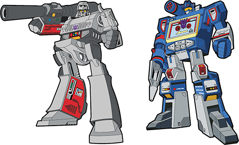 Icon Heroes Megatron x Soundwave Retro Pin Set Collectible Pin